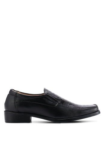 Rocklander black Textured Dress Shoes RO978SH32XETMY_1