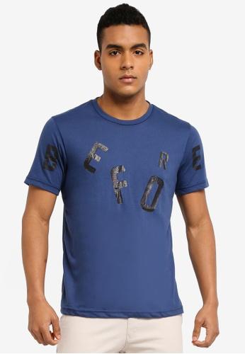 Marc & Giselle 藍色 短袖印花T恤 0BDE7AA8E182CDGS_1