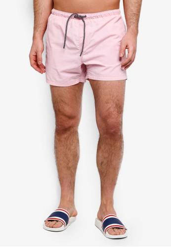 Brave Soul pink and multi Taslan Swim Shorts 76E60AA8B5EE89GS_1