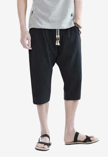 hk-ehunter black Men Cropped Pants 9A34FAAA2D1D6DGS_1