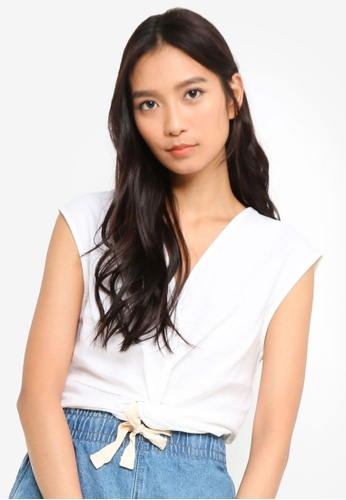 Cotton On white Lara Knot Front Top 0866EAA78CB673GS_1