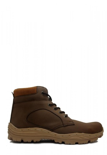 D-Island brown D-Island Shoes Boots Zipper Comfort Leather Dark Brown DI594SH01OBIID_1