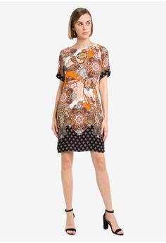 3c1657d02e Dorothy Perkins Orange Border Shift Dress RM 209.00. Available in several  sizes