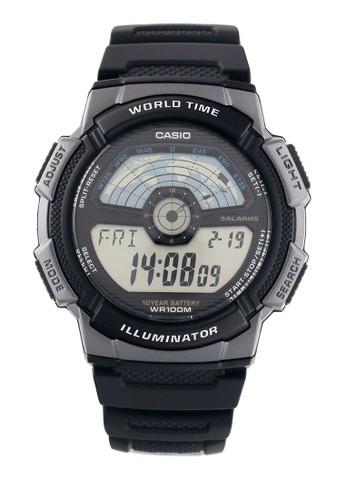 Casio black Unisex Digital Watches Ae-1100W-1Avdf AC844AC8D44D8EGS_1