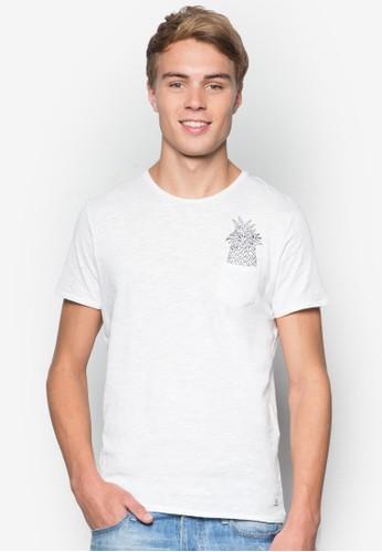 Cyril 鳳梨圖案口袋TEE, 服飾, esprit 折扣T恤