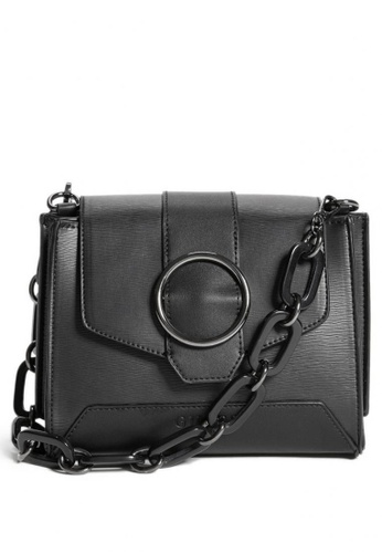 Guess black Guess Mabel Small Satchel Bag 08E05ACEE6658EGS_1