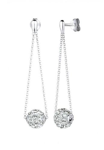 Elli Germany white  Perhiasan Wanita Perak Asli - Silver Drop Swarovski® Crystal Ball Putih DF67CAC5F1DB53GS_1