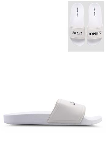 Jack & Jones 白色 Larry 白色 拖鞋 0F01DSH2C71297GS_1