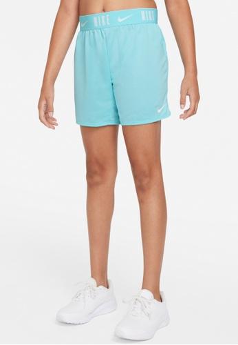 "Nike blue Girls' Dri-FIT Trophy 6"" Training Shorts B155DKA084B559GS_1"