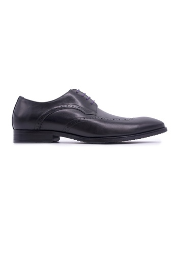 Rad Russel black Rad Russel Lace-up Derby with Wingtips - Black B6455SHAFAA2C4GS_1