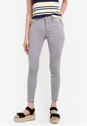 Dorothy Perkins grey Pale Grey Frankie Ankle Grazer Ultra Soft Jeggings DO816AA57UYCMY_1