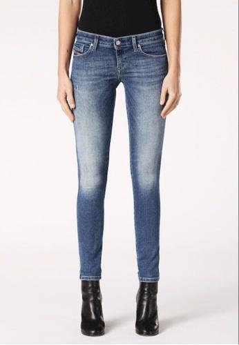 Diesel blue Skinzee-Low-S Low-Waist Super Skinny Fit Jeans E173FAAC852187GS_1