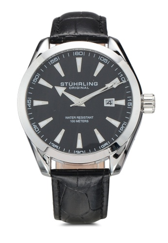 Stuhrling Original black Forte 3953L Watch 580FDAC46157C4GS_1