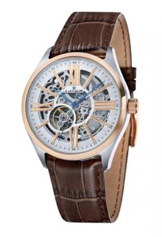 Thomas Earnshaw Armagh Es-8037-04 Men's Genuine Leather Strap Watch