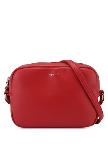 agnès b. red Shoulder Sling Bag F327DAC63ACA67GS_1