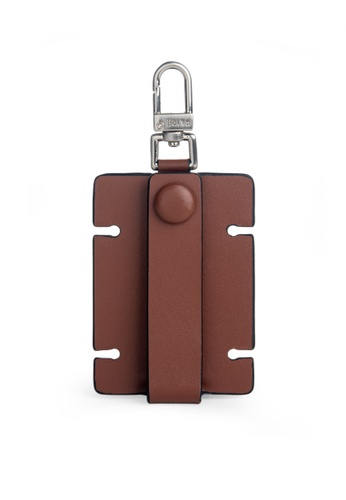 Faire Leather Co. brown Specter VT Cable Organiser (Tan) ACB2DACFA34015GS_1