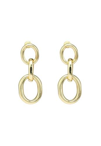 Red's Revenge gold Bold Links Dangle Earrings 96061AC1F2A69BGS_1