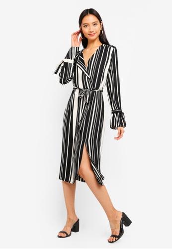 River Island black and multi Julia Waisted Dress ACCEFAA6C613ACGS_1