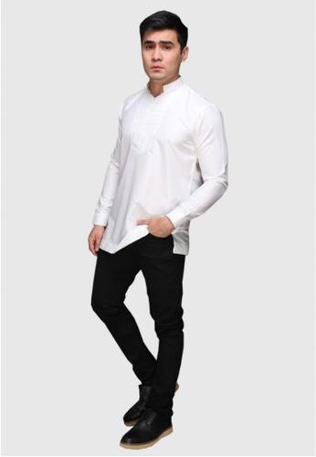 Amar Amran white Kurta Qardhawi 3C71DAA9567A68GS_1
