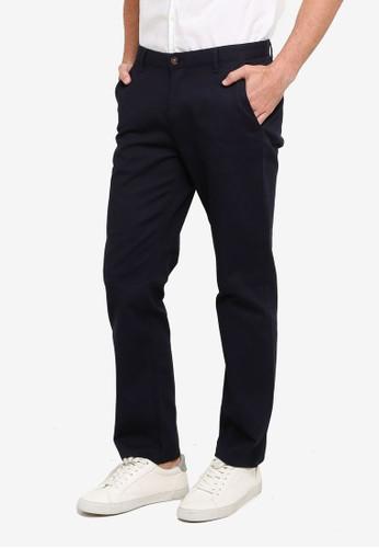 LC Waikiki navy Slim Fit Textured Trousers FAEA6AABEB52C5GS_1