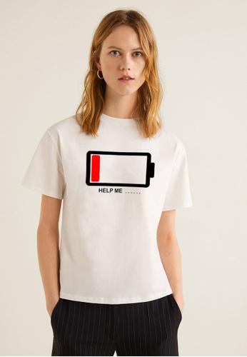 Greatvalueplus white Help Me Women's Round Neck Statement T-shirt D20CEAA05A61CBGS_1