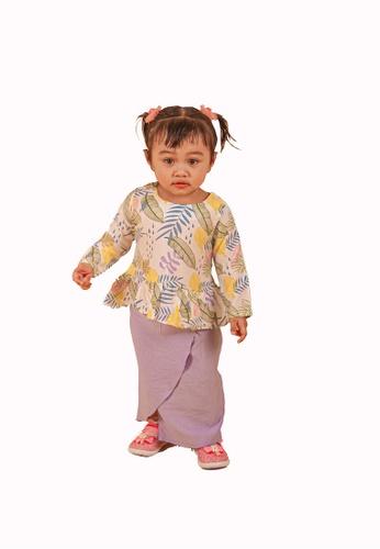 FATIMÉ multi Kurung Ruffle Khadijah (Purple) 22DA8KAF553FE4GS_1
