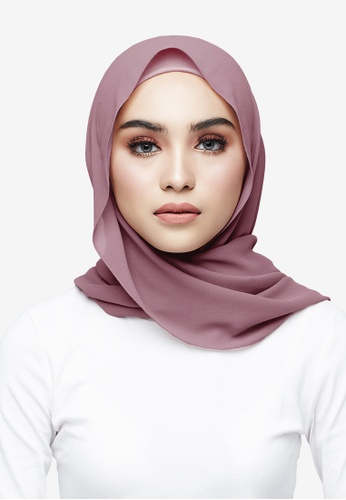 UMMA pink Azra Semi Instant Shawl 430E2AA4BDE414GS_1