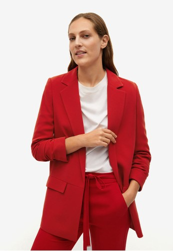 Mango red Structured Flowy Suit Jacket DD346AABB918E6GS_1