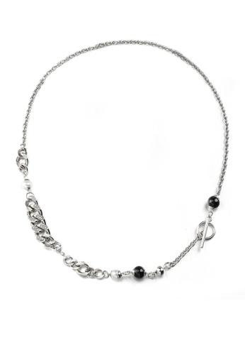 HAPPY FRIDAYS Stylish Rhinestone Titanium Steel Necklace DWX0846 B749BAC0AB279FGS_1