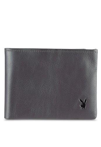 Playboy grey Bi-Fold Full Leather Wallet PL371AC0RX5GMY_1