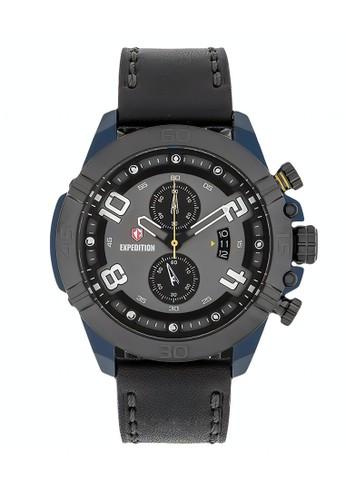 Expedition black Expedition Jam Tangan Pria - Black Blue - Leather Strap - 6763 MCLGABA E2635AC8B4C0FEGS_1