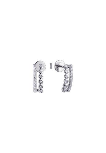 Khoe 白色 Khoe 14K白金鑽石時尚耳環 C52D4AC5C7D67AGS_1