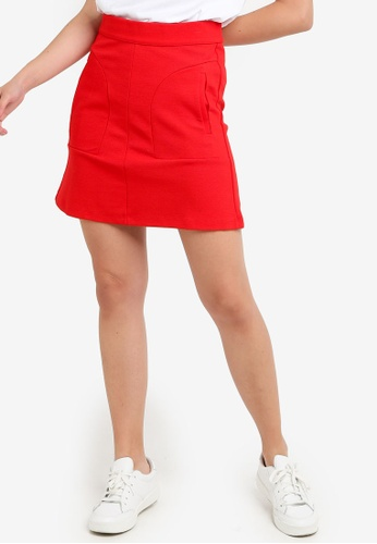 LC Waikiki 紅色 高腰裙 7EE5CAA3352891GS_1