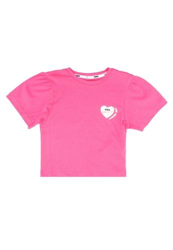 PUMA pink Core Alpha Style Tee 6DA32KA8F37D31GS_1