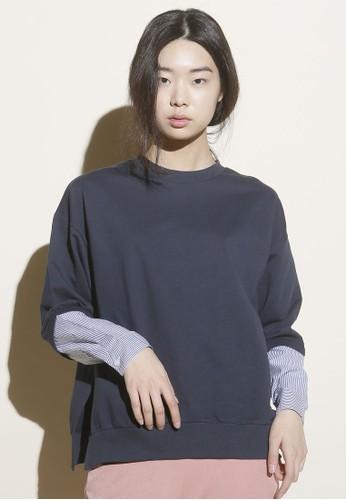 韓系時尚條紋袖口上衣, esprit手錶專櫃服飾, 上衣