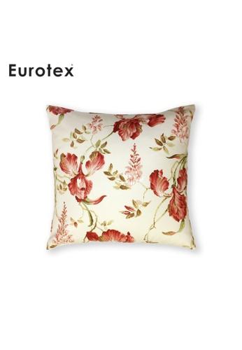 Eurotex Eurotex, Cushion Cover, Secret Garden, Moresley, 100% Cotton Fabric made in England - Coral 8BD11HLAD62690GS_1