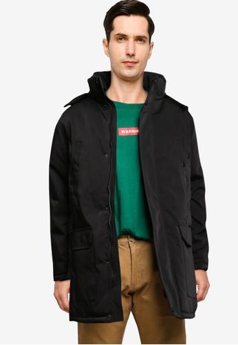 BLEND black Fur Trim Hooded Parka 368B7AA2A5E7B1GS_1