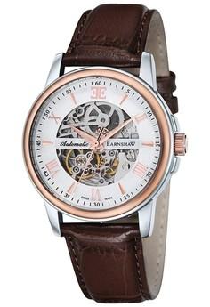 Thomas Earnshaw Beagle Es-0014-03 Men's Genuine Leather Strap Watch
