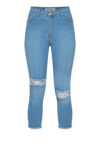 4c07611ef9a High Rise Cut-out Jeans