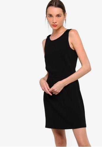 Mango black Flowy Dress MA134AA41YQCPH_1