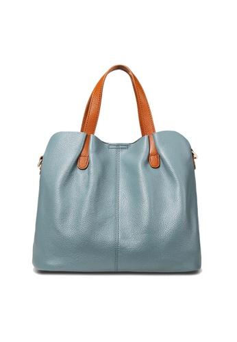 Twenty Eight Shoes blue VANSA Pebbled Top Layer Cowhide Tote Bag VBW-Hb156 7187CAC772AA29GS_1