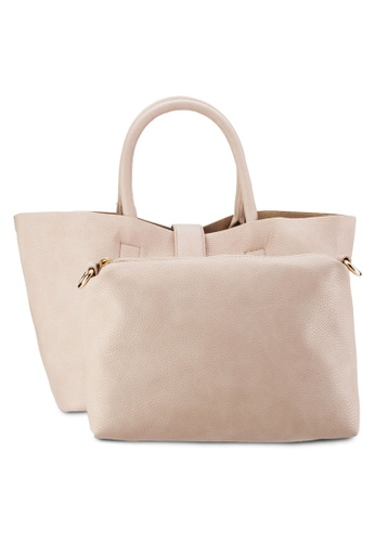 Perllini&Mel beige Satchel Top Handle Bag PE444AC75WKYMY_1