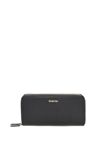 SEMBONIA black Genuine Leather Wallet (Black) SE598AC0SS2CMY_1