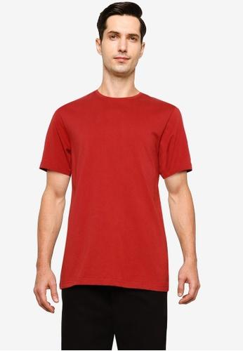 UniqTee red Essential Crew Neck T-Shirt E3AD9AAF25BD64GS_1