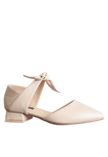 Twenty Eight Shoes 白色 別致蝴蝶結矮跟鞋 VL9032 1E2B1SH6F0BE73GS_1