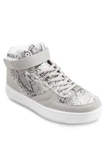 鱷魚紋高筒厚底運zalora鞋子評價動鞋, 女鞋, 鞋