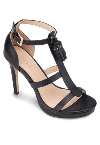 流蘇T 字帶厚底高跟鞋, zalora 手錶女鞋, 細帶高跟鞋
