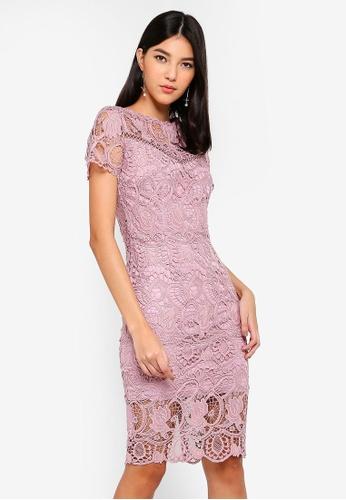 Paper Dolls pink Rose Crochet Dress FBF98AA8CF98A4GS_1