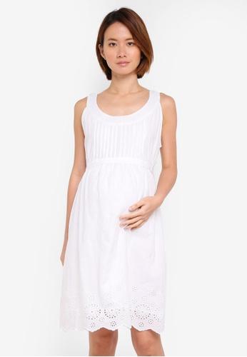 JoJo Maman Bébé white Maternity Pretty Cami Dress EB777AA691FC1FGS_1