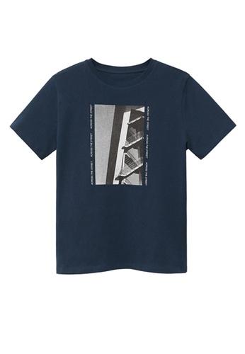 MANGO KIDS blue Organic Printed Cotton T-Shirt 1CAC6KA549700AGS_1